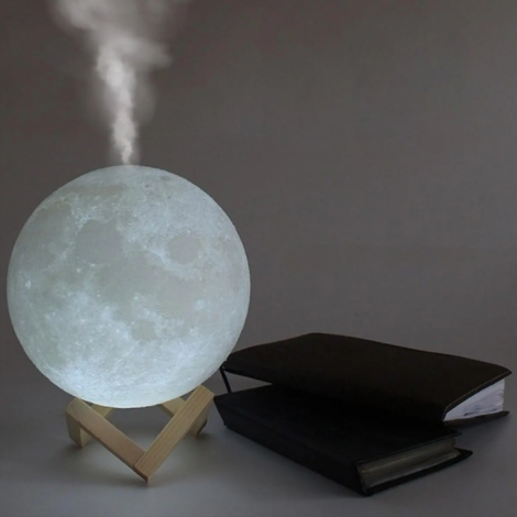 Moon Lamp 3D LED Night Light Air Humidifier 880ML