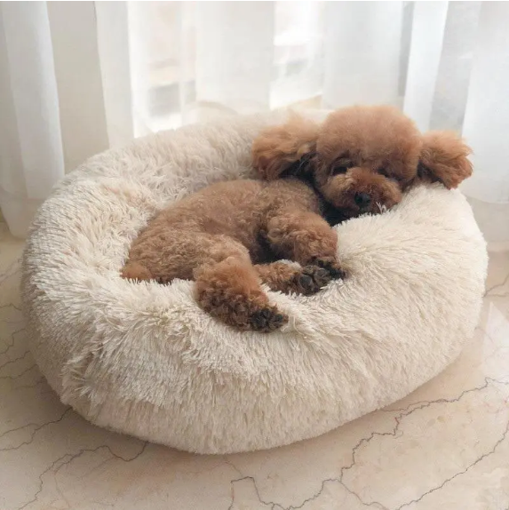 FurFriendz™ Dog Cat Pet Bed Super Soft Warm Round Depth Super Cute Kennel Multicolor