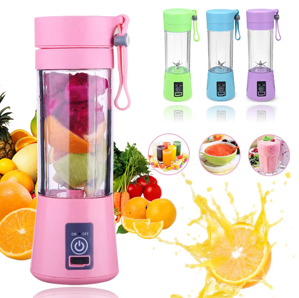 Juice2Go™ Portable USB Fruit Juicer Blender Orange Juicing Extracter Cup Machine 380ml 6 Blades