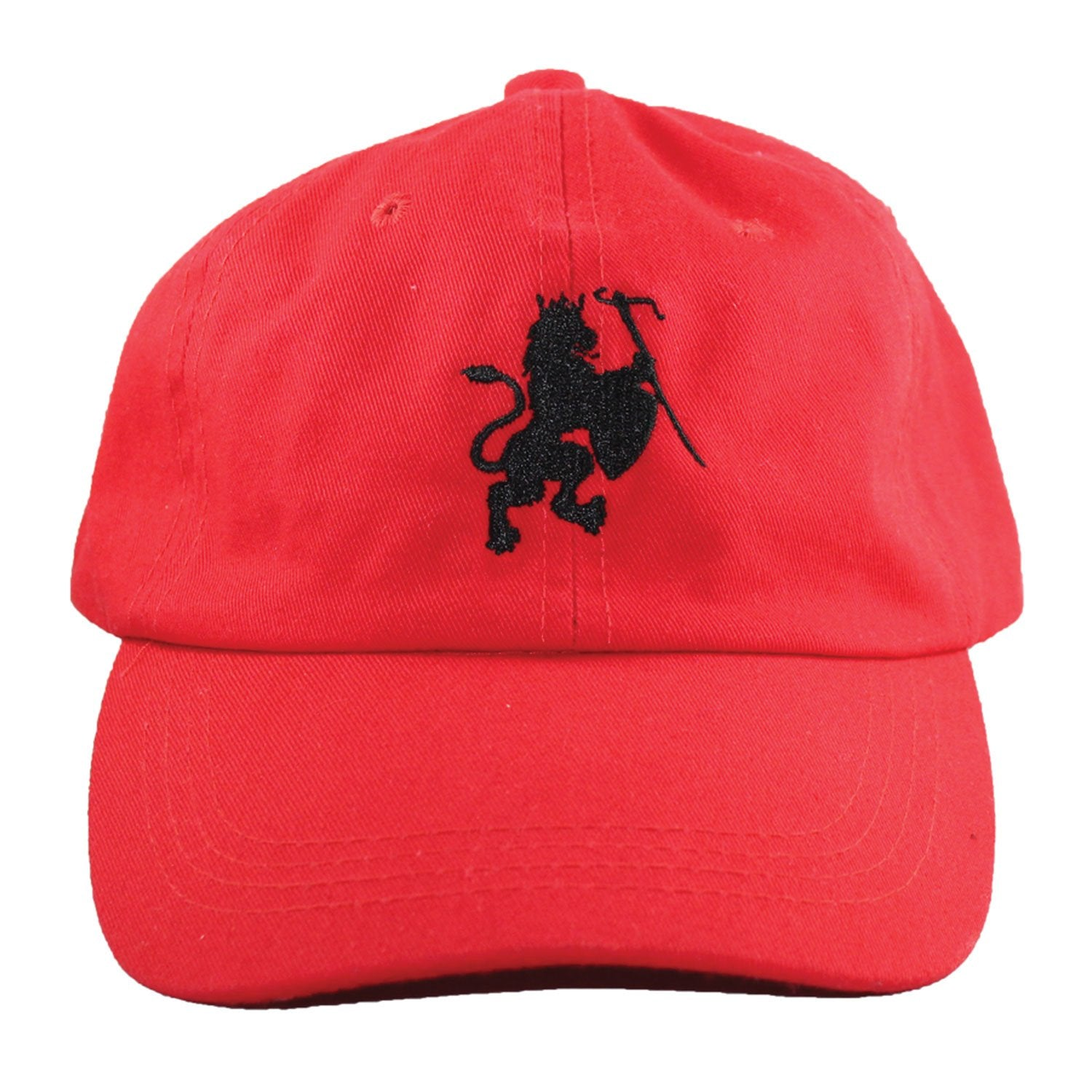 Lion Crest red dad hat