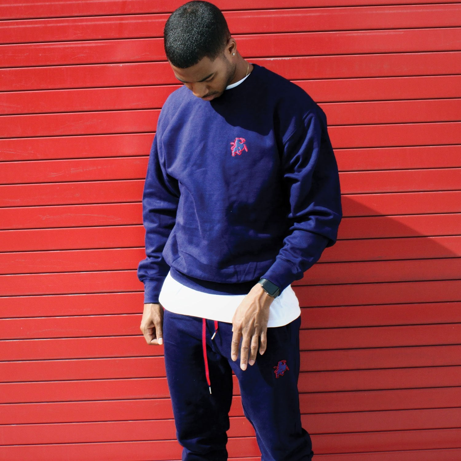 Navy blue sweatsuit