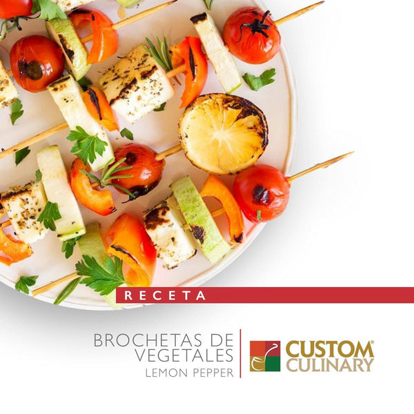 BROCHETAS DE VEGETALES LEMON PEPPER