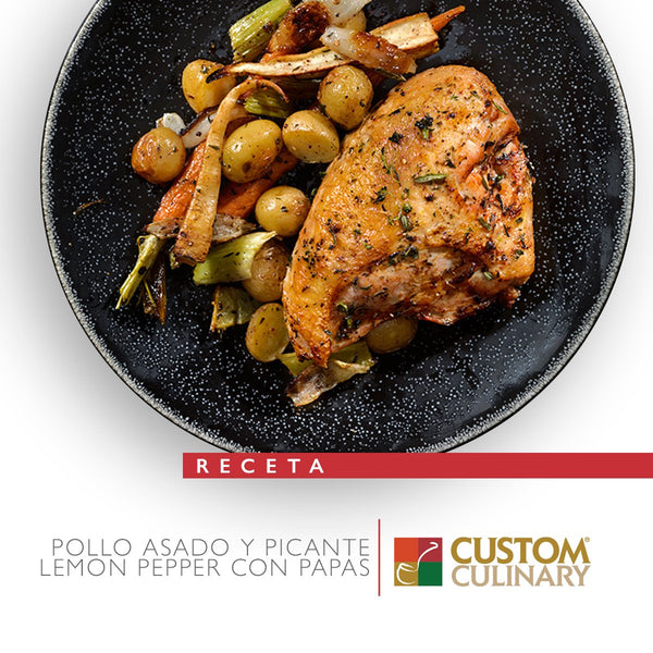 POLLO ASADO Y PICANTE LEMON PEPPER CON PAPAS