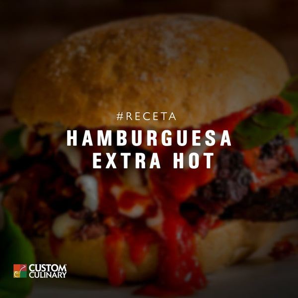 Receta de Hamburguesa de Arrachera Extra Hot