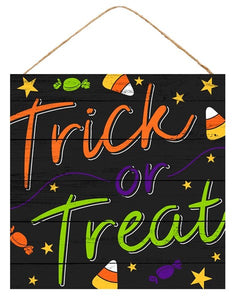 "12""Sq Trick Or Treat Sign"