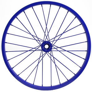 "Decorative Bicycle Rim - 16"" Dia - Blue"