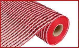 "10""X10yd Wide Foil Mesh -  Red/White"