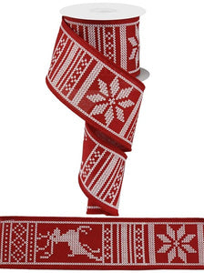 "2.5""X10yd Christmas Sweater - wired"