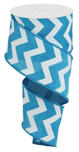 "2.5""X10yd Wide Chevron/Cross Royal - wired"