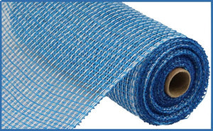 "10""X10yd Multi Poly Burlap Mesh - Blue/White"
