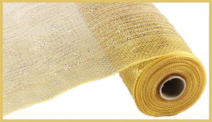 "10.5""X10yd Jute Poly Mesh - Gold/Natural"