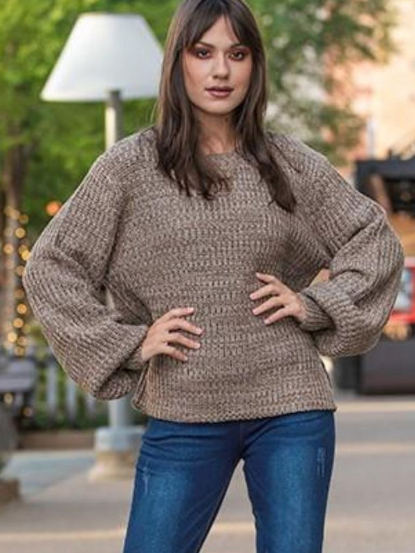 Balloon Sleeve Sweater (Mocha)