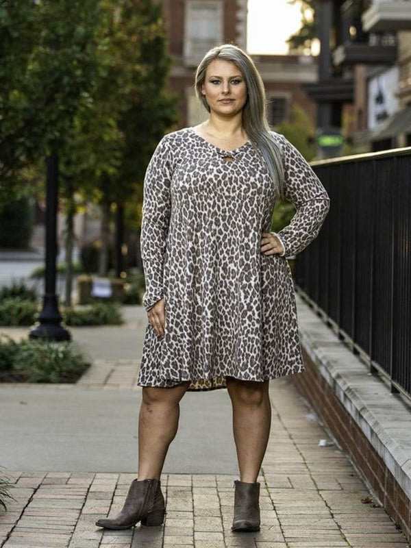 Leopard Print Tunic Dress