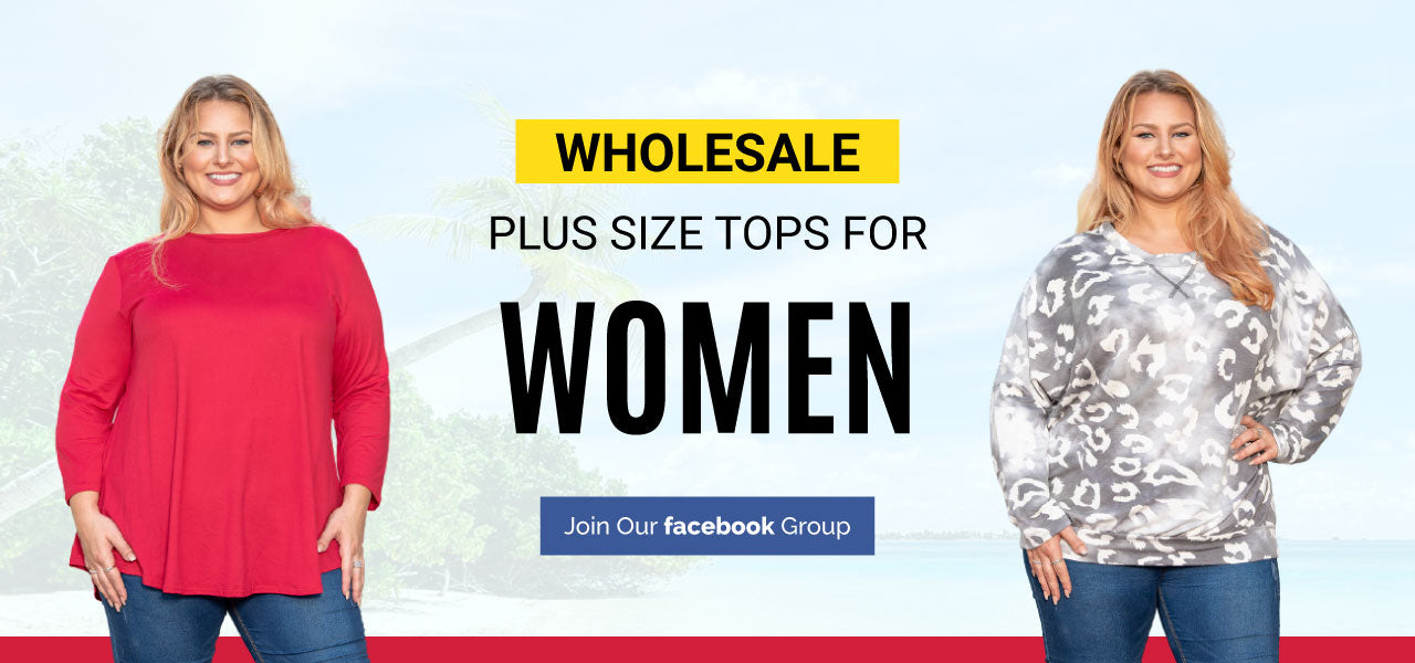VLU STYLE Wholesale Plus SizeTops for Women Never Require a Tug