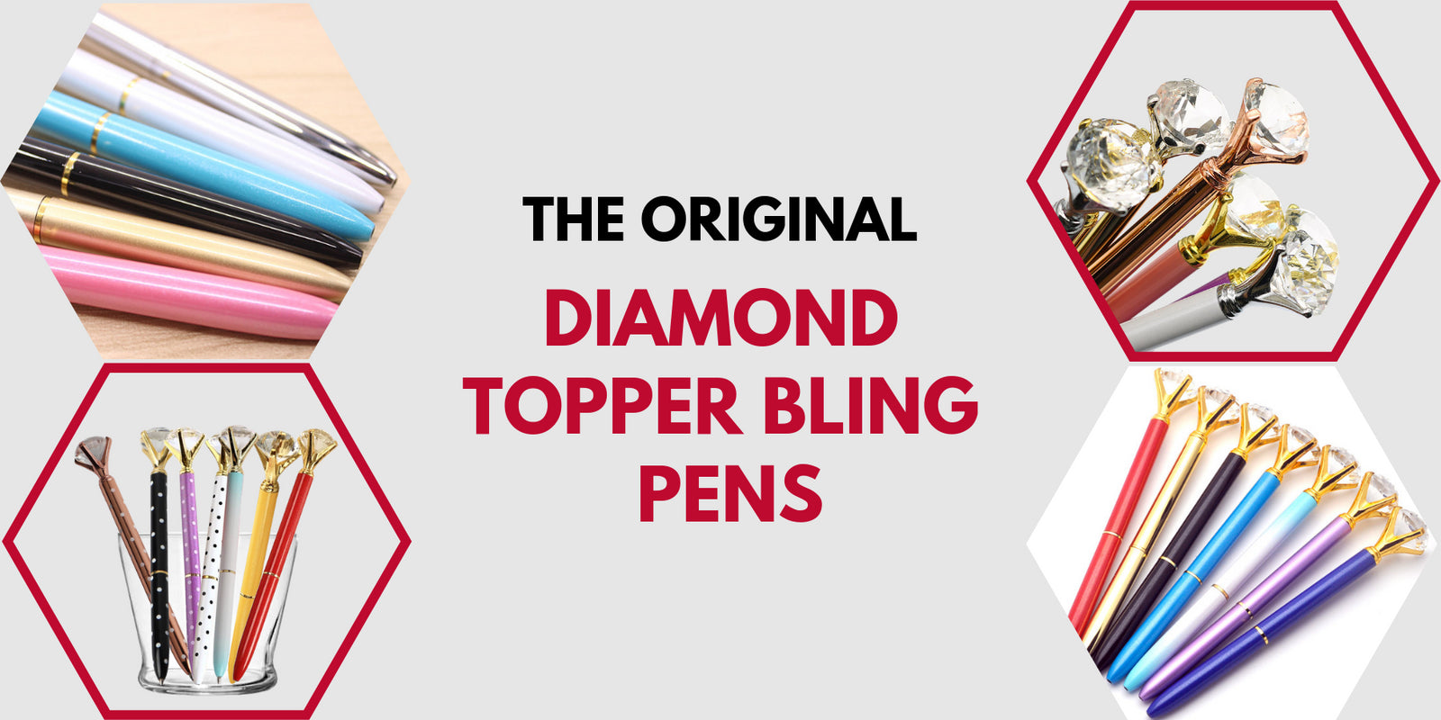 VLU STYLE The Original Diamond Topper Bling Pens