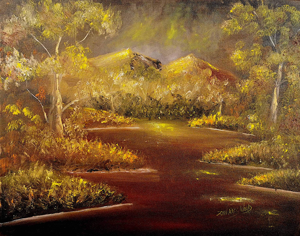 mountain landscape dark forest paintings images