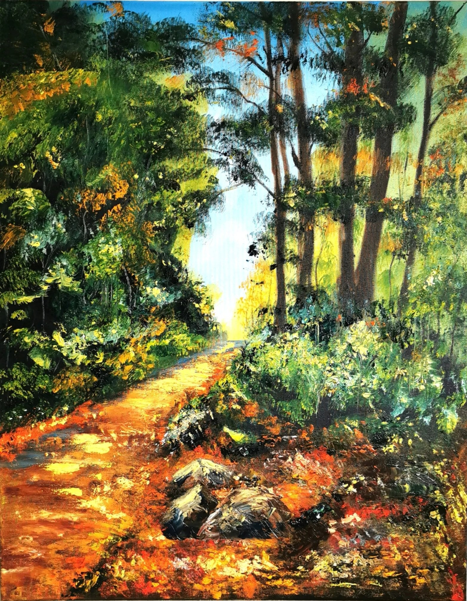 Landscape Painting: Forest Painting Landscape Art on Canvas