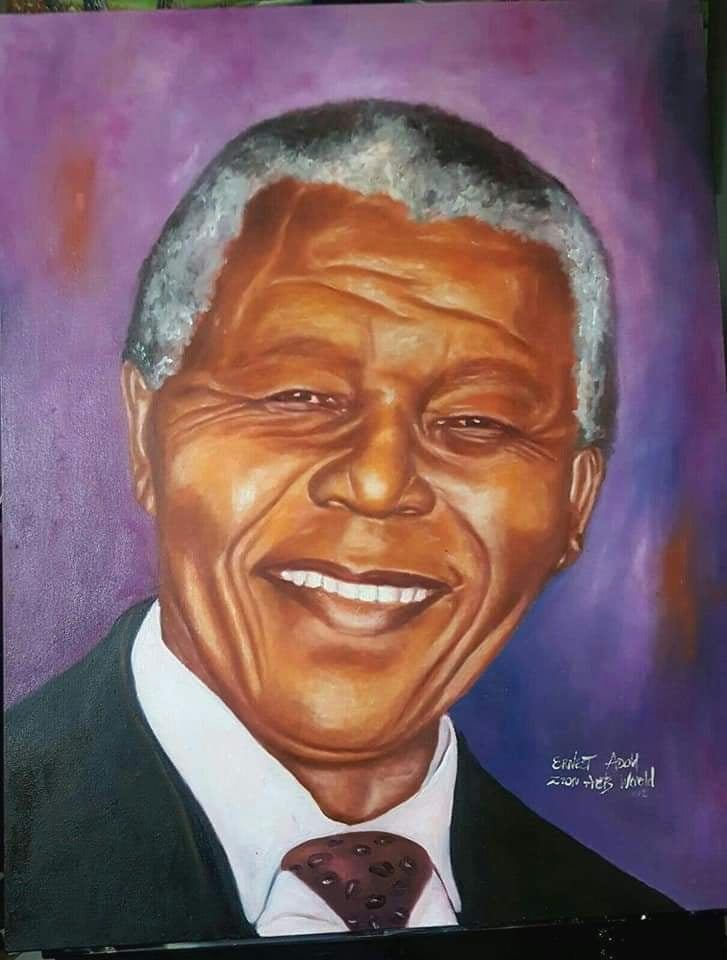 Nelson Mandela Painting Civil Rights Pioneers Wall Art Decor Print Premium Canvas Painting