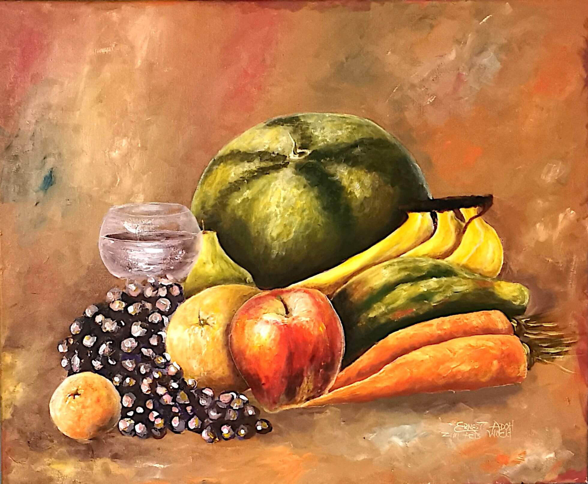 Fruit Painting | Modern Paintings of Fruit Bowl