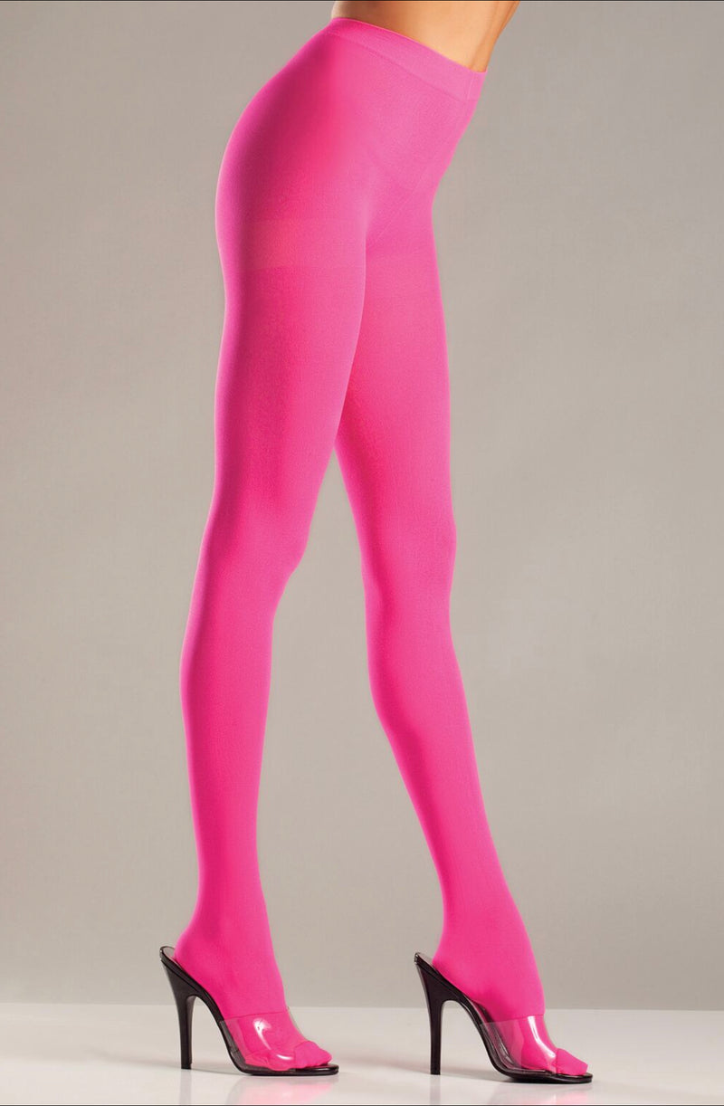 Hot Pink Solid Color Pantyhose