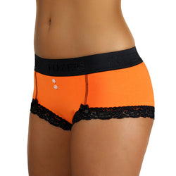 ORANGE Women's BOYSHORTS BLACK WAISTBAND