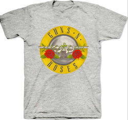 Guns N' Roses Classic Bullet Logo on Heather