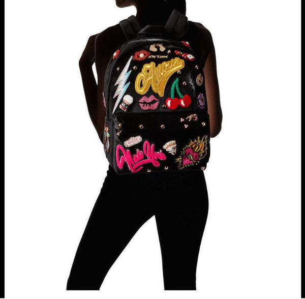Betsey Johnson Baby's Got Back Velvet Backpack
