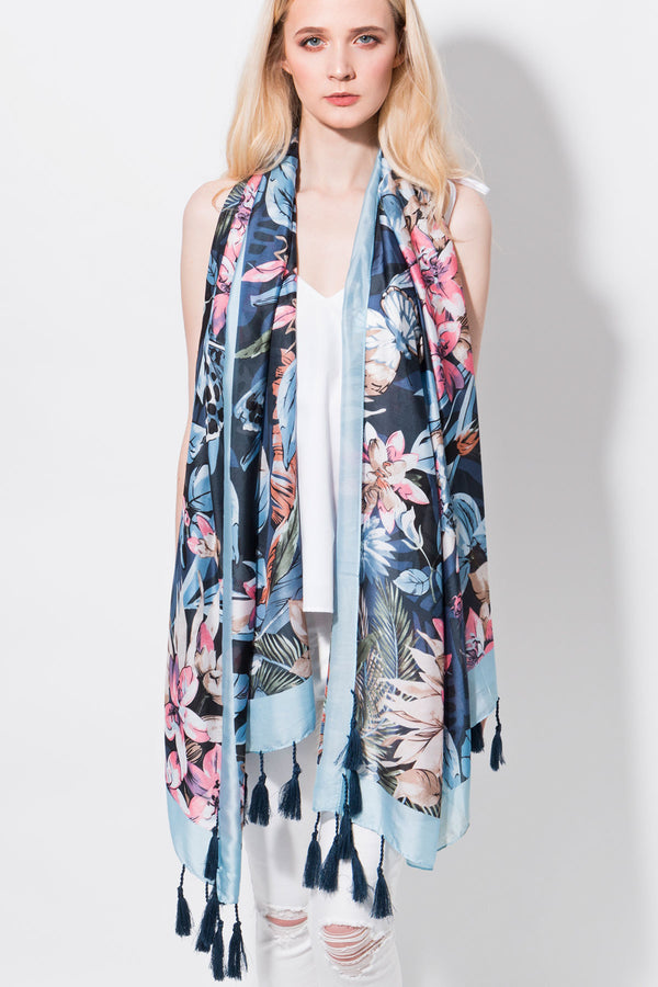 PIA ROSSINI DYLANO FLORAL SCARF