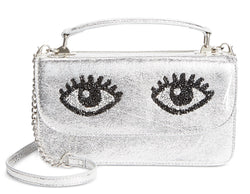 Betsey Johnson Eyes Top Handle Crossbody