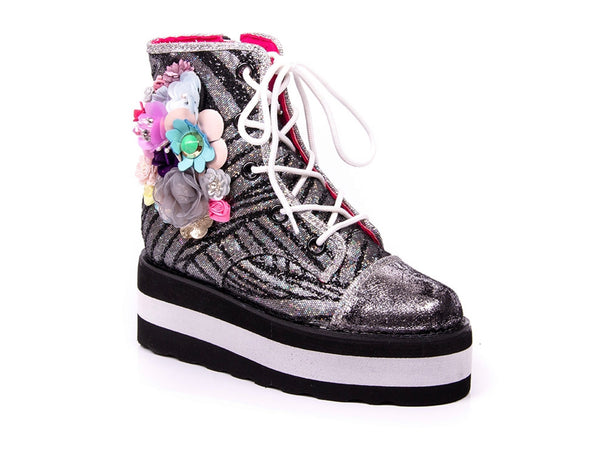 Irregular Choice Floral Stomp Sneakers