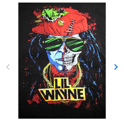 Lil Wayne Half Skull Men's Fit T-Shirt