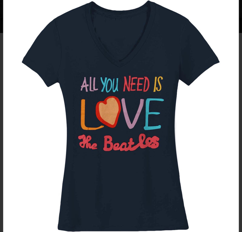 All You Need Is Love V-Neck Juniors Tee