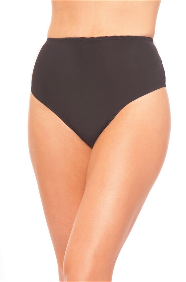 LACE ME UP BRIEF WOMAN'S UNDERWEAR. High waisted microfiber back lace-up with metal ring details.