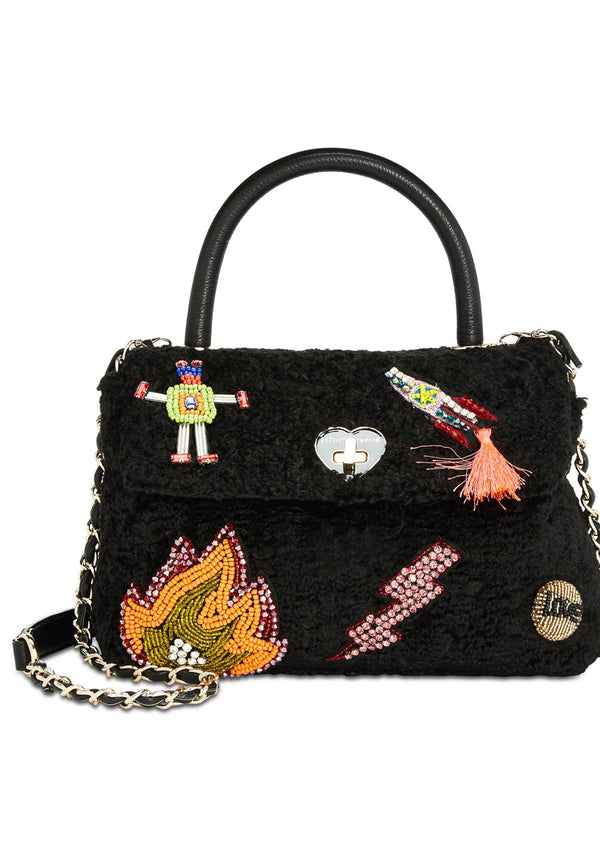 Betsey Johnson Curly Gurl Flap Crossbody