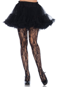Rose Skull Lace Tights