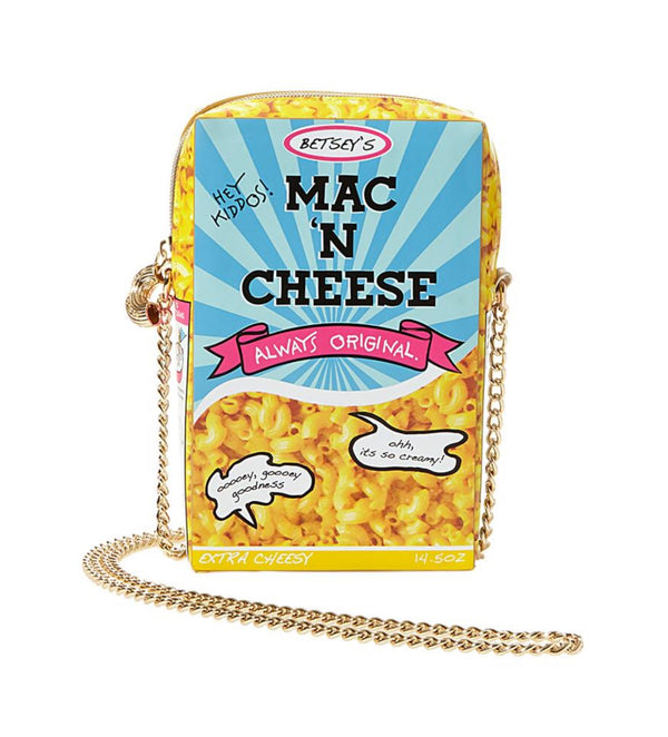 BETSEY JOHNSON MACK N CHEESE CROSSBODY BAG