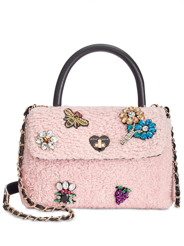 Betsey Johnson Blush Curly Gurl Flap Crossbody