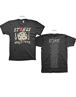 Rolling Stones 1972 Dice 30/1 Enzyme Washed Men's Fit T-shirts
