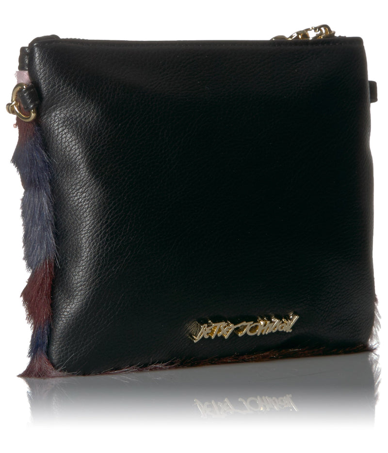 Betsey Johnson Fux Fuh Embellished Crossbody