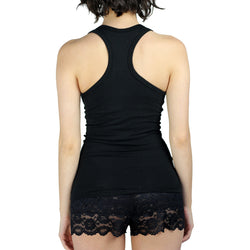 Black Racerback Tank Top with Shelf Bra