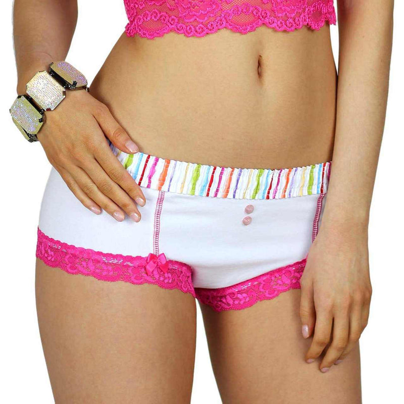 FOXERS BOYSHORTS PANTIES with FOXERS WATER COLORS WAISTBAND