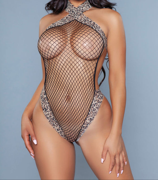 Naturally Wild Leopard Print Bodystocking