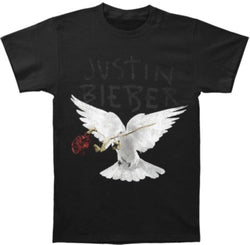 Justin Bieber Dove And Dead Rose T-Shirt