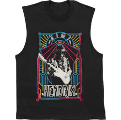 Jimi Hendrix Electric Juniors Muscle Tank Top