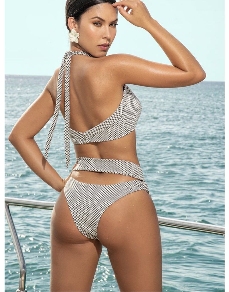 Two Piece Halter Top Swimsuit