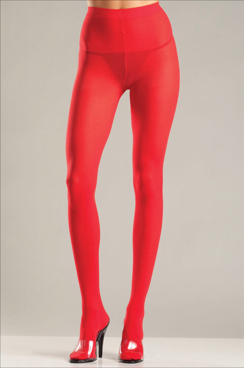 Red Solid Color Pantyhose