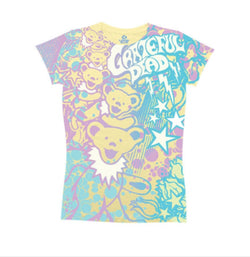 Grateful Dead Bubble Gum Bears Juniors T-Shirt