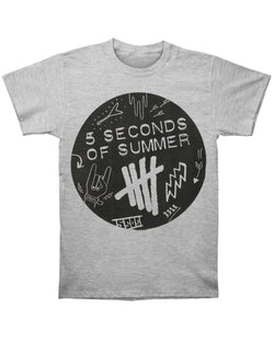 5 Seconds Of Summer Scribble Logo Men's Fit T-Shirt 6