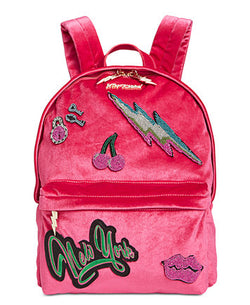 Betsey Johnson Velvet Backpack