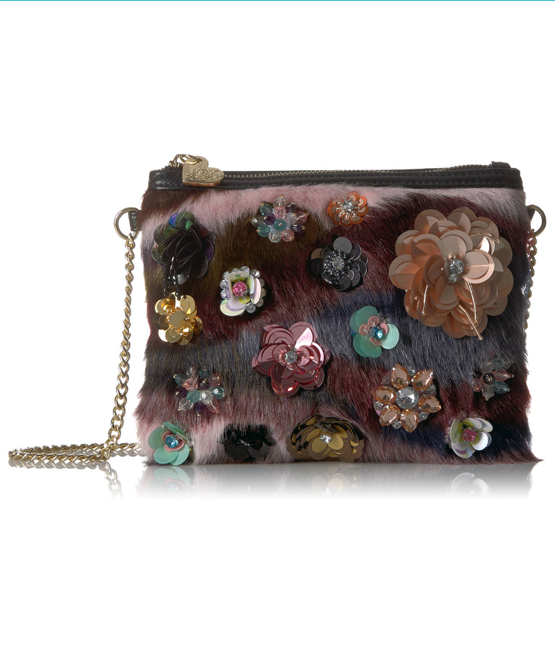 Betsey Johnson Fux Fuh Crossbody